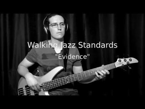 "Walking Jazz Standards #10: ""Evidence"" - Bass Guitar Lesson"