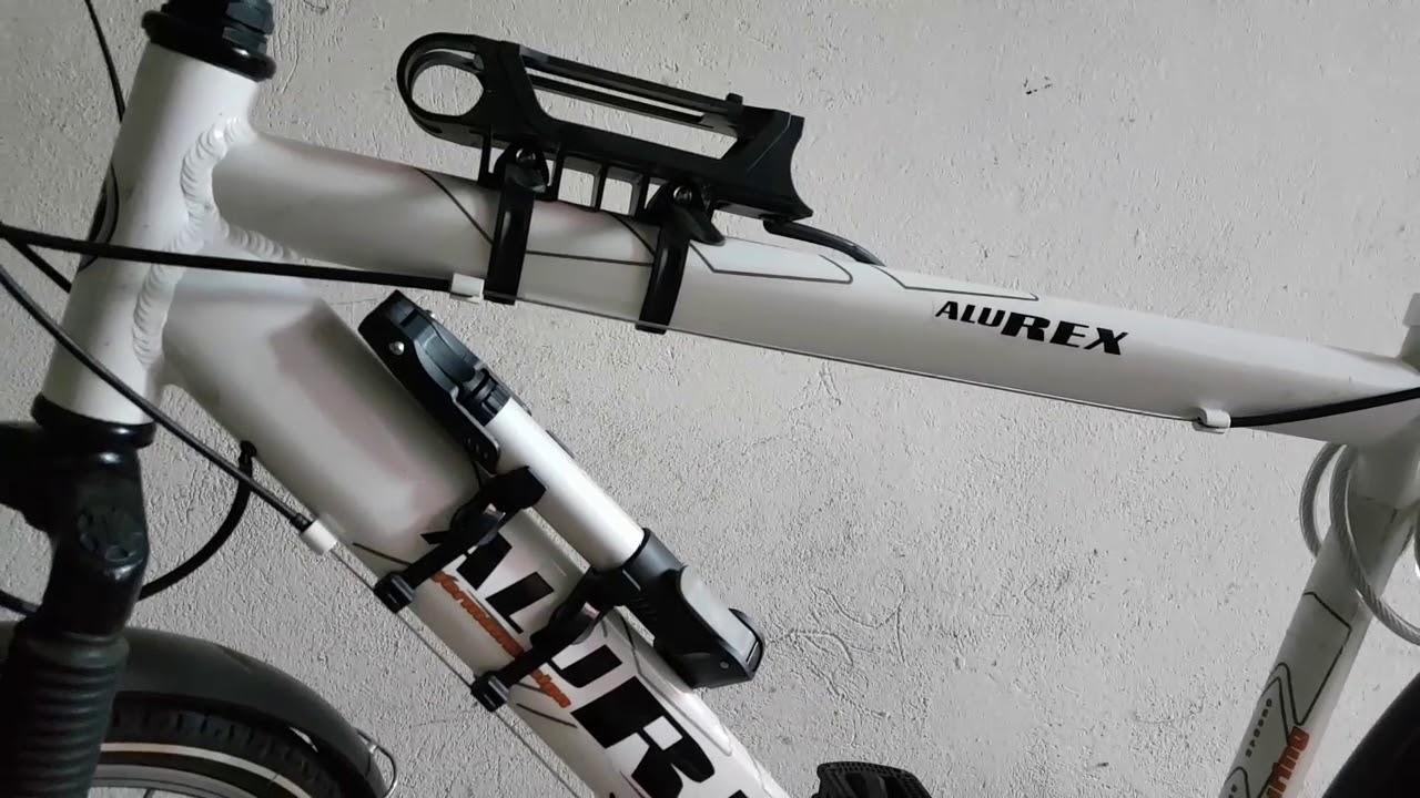 baytter fahrradschloss faltschloss fahrrad motorrad mit rahmenhalterung schwarz youtube. Black Bedroom Furniture Sets. Home Design Ideas