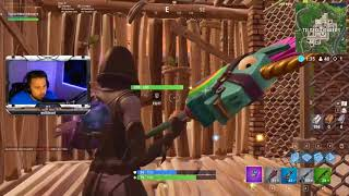 Freestyle Rapping while playing Fortnite dropping Tilted Towers