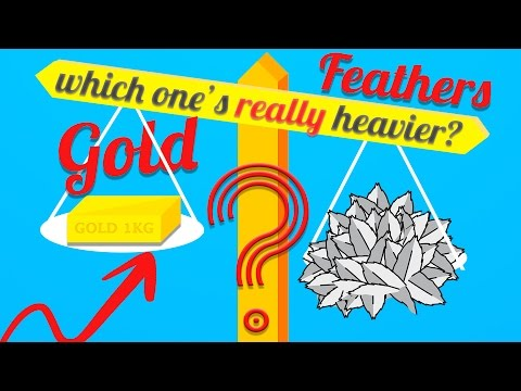 Which Weighs More - 1kg of Feathers or 1kg of Gold: EXPLAINED (Buoyancy Force)