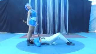 Rutina de Mano a Mano Cómica,  Circo Ambulante, chile