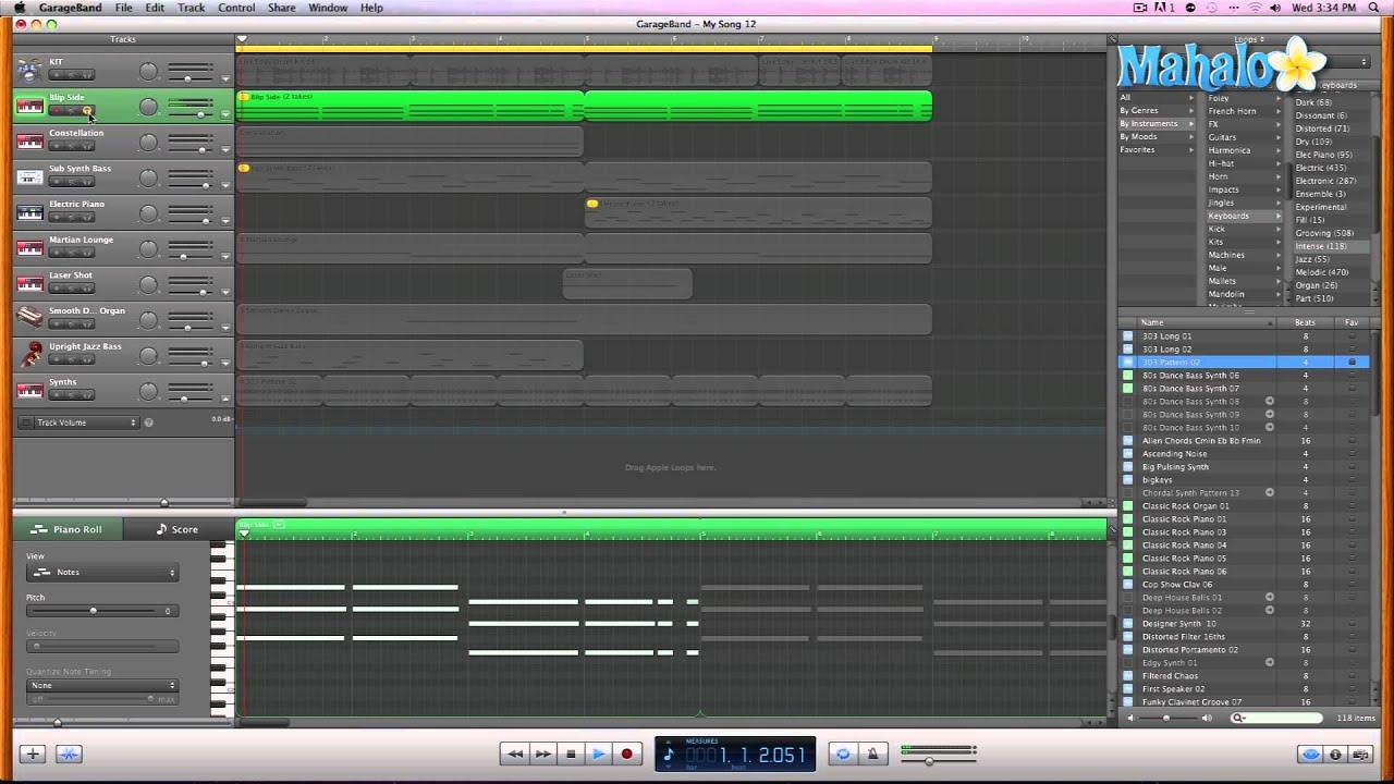 GarageBand Tutorial - Editing MIDI Pitch