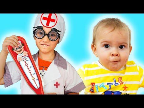 Дети играют в доктора. Сборник видео для детей
