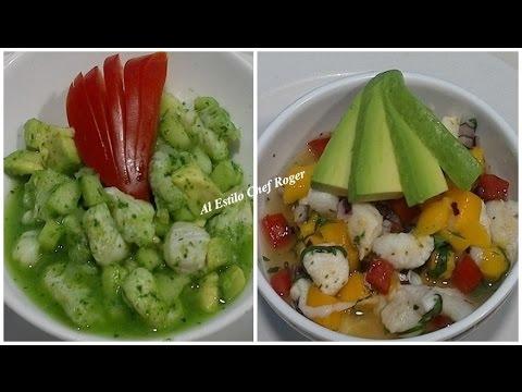 como hacer CEVICHE VERDE, receta de CEVICHE DE MANGO, Receta # 411