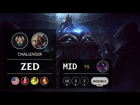 Zed Mid vs Morgana - NA Challenger Patch 9.24