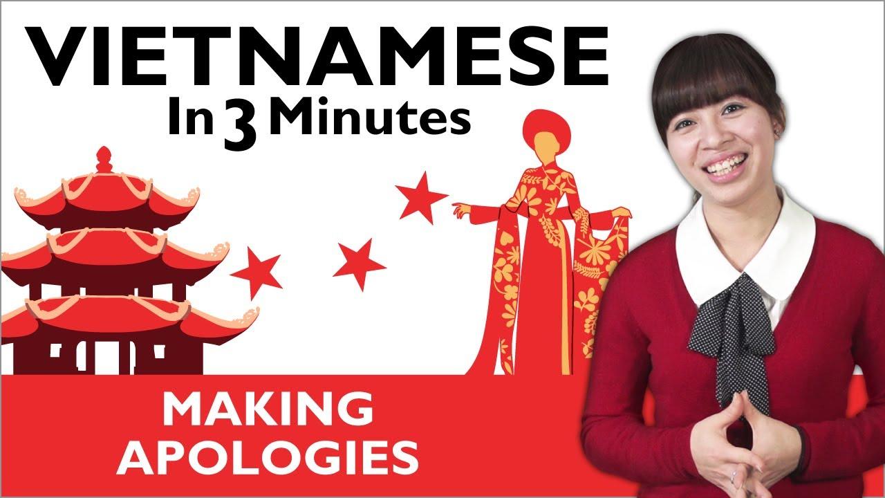 Learn Vietnamese - Making Apologies