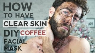 How to have clear skin , DIY coffee facial scrub