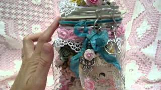 Wild Orchid Crafts Design Team Project - Easel Card & Altered Jar