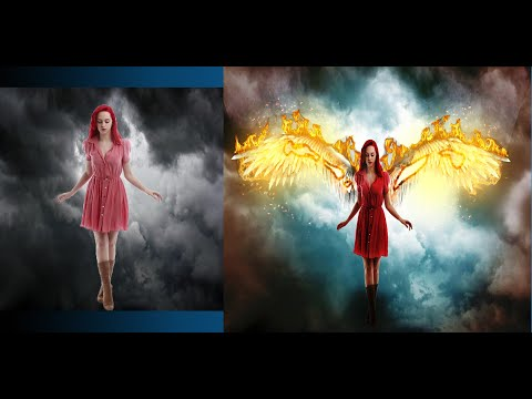 Fire Wings Effect 🔥in Photoshop #graphic Genie Photoshop Tutorial 🧞♂️