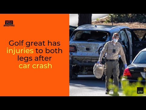Police say Tiger Woods 'lucky to be alive' after car crash in California -Wednesday's News Briefing