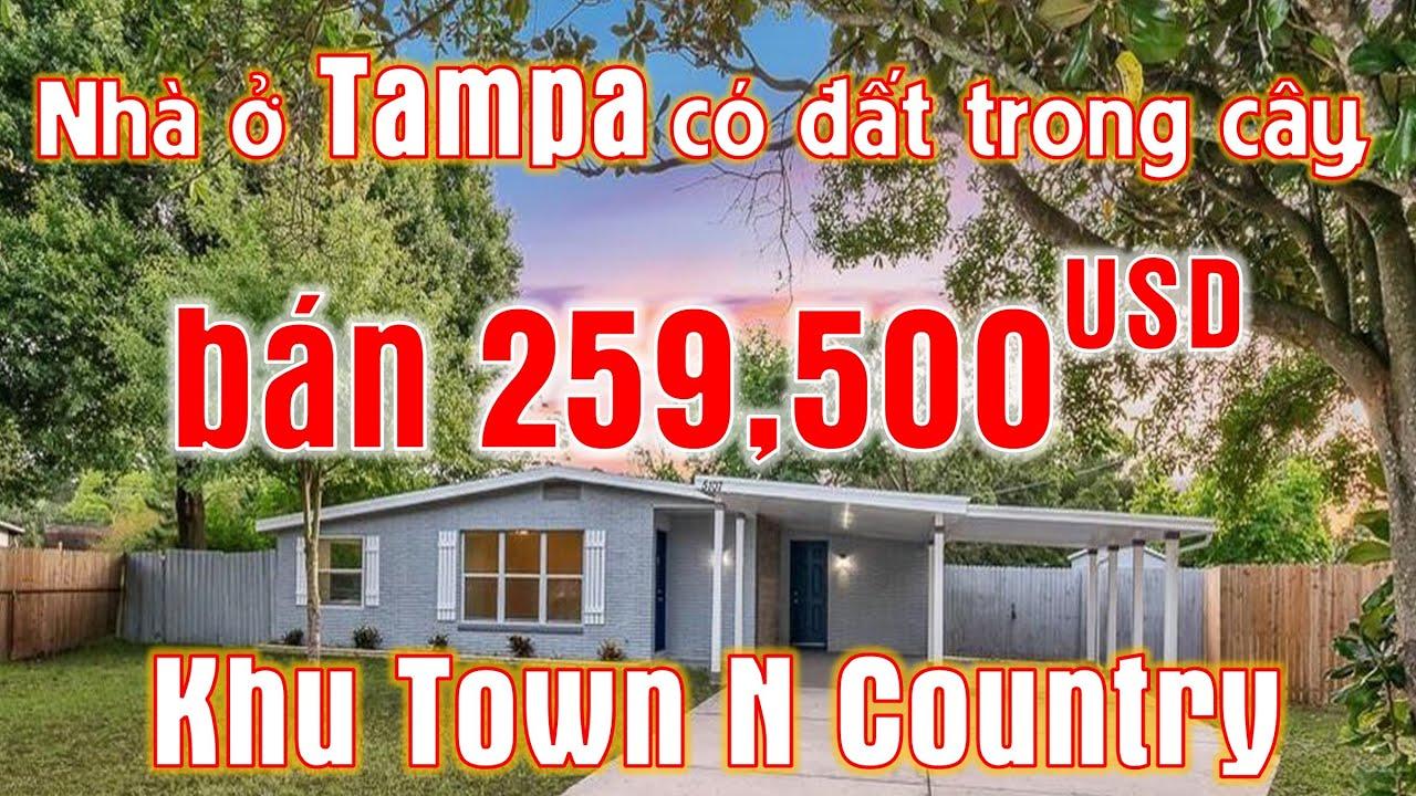 Nhà bán 259,500 USD ở Tampa có đất trồng cây (Vlog 236 -  Nhà cửa & Cuộc sống Mỹ)