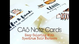 How To Create Note Cards | Cardmaking With Altenew | Easy Coloring Tips Using Spectrum Noir Markers