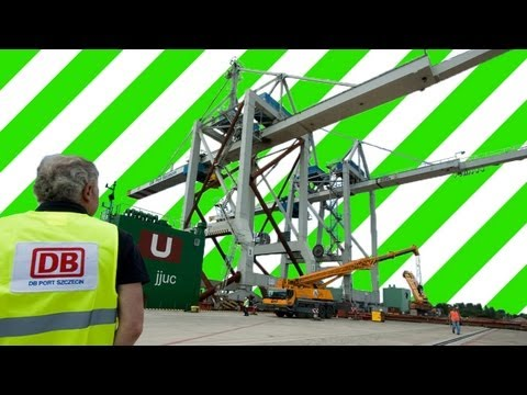 Heavy Lift  STS Crane 1400 Tons Unloading DB Port Szczecin