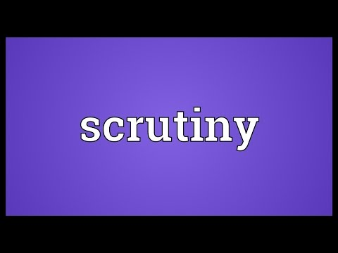 Scrutiny Meaning