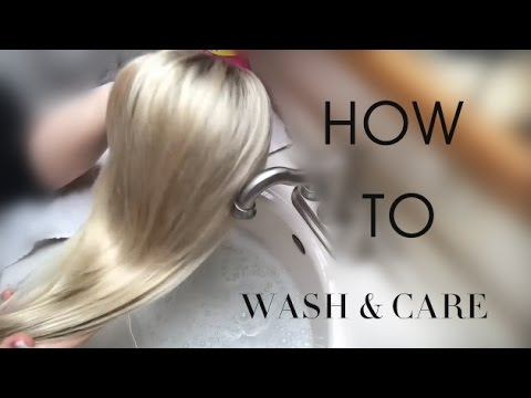 How to Wash & Care Synthetic Wig - YouTube