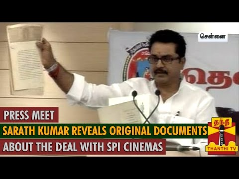 Sarath Kumar Reveals Original Documents about the Deal with SPI Cinemas