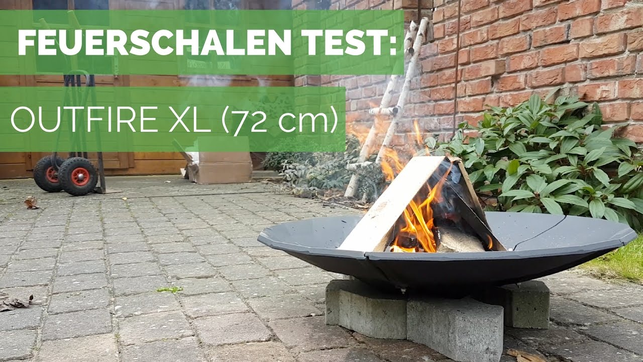 feuerschalen test outfire xl feuerschale 72 cm gusseisen youtube. Black Bedroom Furniture Sets. Home Design Ideas