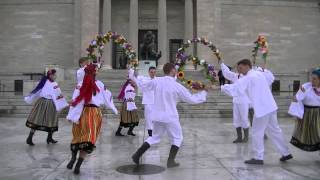 PIAST dancers finish in the rain at Polish Constitution Day