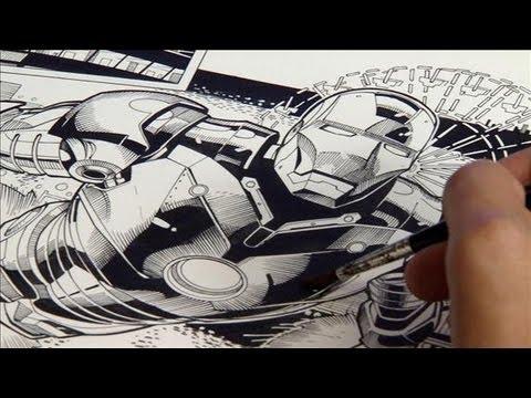 superhero comic artist behind the scenes youtube