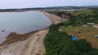 Drone flight nodes point holiday park st Helens lsle of Wight