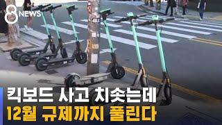 킥보드 사고 치솟는데…12월부터 규제 풀려 더 걱정 / SBS