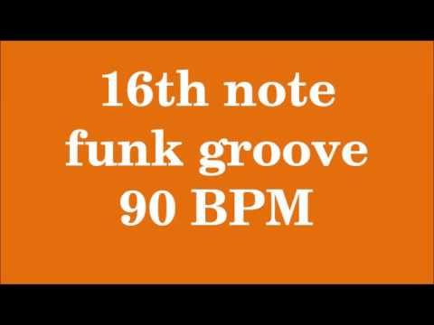 Drum Loop for Practice 16th note funk groove 90 bpm