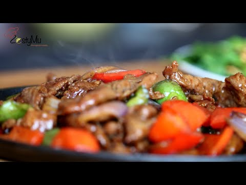 Lamb Sizzling and Boy Choy Stir Fry with oyster sauce & garlic oil like Chinese restaurant style.
