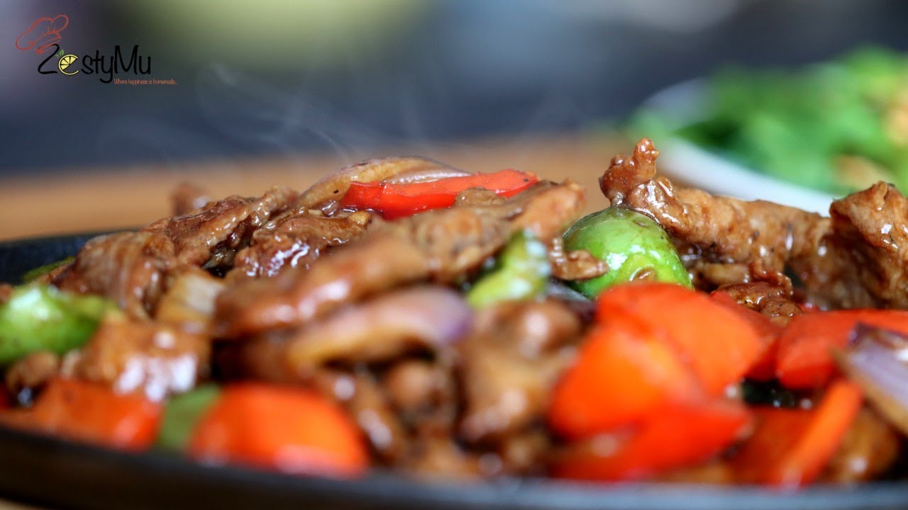 Download Lamb Sizzling and Boy Choy Stir Fry with oyster sauce & garlic oil like Chinese restaurant style.