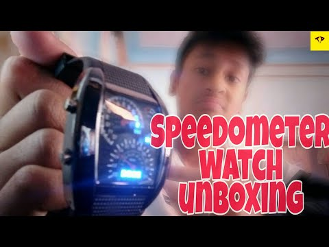 Pappi Boss Pappi Haunt Speedometer Digital LED Watch Unboxing 2019