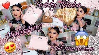 #TEDDY BLAKE NEW YORK👜(UNBOXING MY EVA SILVER SOFT  PINK)RESEÑA😃PRIMERA IMPRESIÓN😱OMGGG LA AME😍