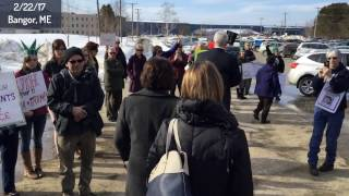 Silent Protest of Senator Susan Collins, Bangor Maine, February 22 2017