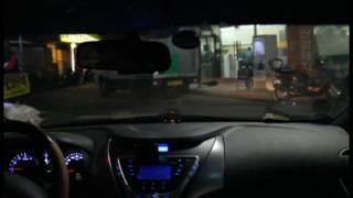 비즈카 i900 전방감지기 아반떼MD 주행동영상