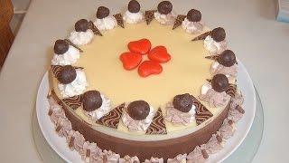 Торт Три шоколада(Торт Три шоколада Для бисквита 2 яйца 0,5 ст.сахара 1п ванилина 0,5ст муки 1ч.л разрыхлителя 1ст.л крахмала 1ст.л..., 2015-01-13T07:08:39.000Z)