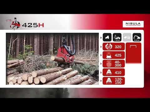 Video brochure of Nisula 425H harvester head