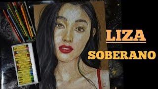 LIZA Soberano Oil Pastel Portrait