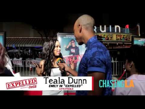 """Teala Dunn Talks About Her Role in Film at """"Expelled"""" Movie Premiere 
