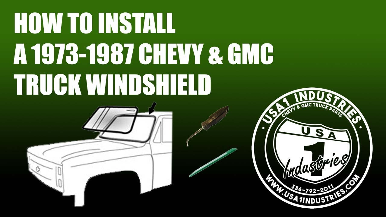 1973-1987 Chevy//GMC Truck Front Windshield Gasket Weatherstrip Seal w//Out Trim