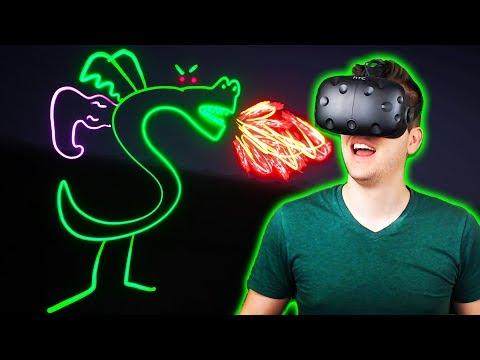 Drawing Trogdor in VR! - Tilt Brush Gameplay - HTC Vive VR