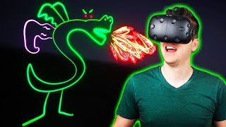 Drawing Trogdor in VR! - Tilt Brush Gameplay - HTC Vive VR