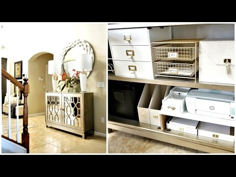 NEW! HOME ORGANIZATION | Entryway Cabinet Mail & Charging Station Organization