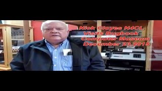 Nick Cloyes N4CL Visits Museum video 12 23 15
