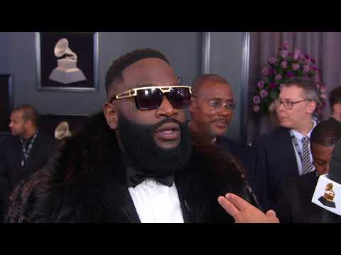 Rick Ross interview on the Red Carpet   Red Carpet   60th GRAMMYs