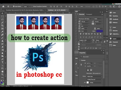 how to create action in photoshop cc 2019  Creating by niem reza