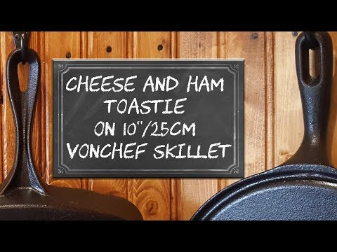 """Cheese and Ham Toastie on 10""""/25cm Vonchef Skillet"""
