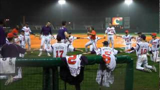 Clemson Baseball vs Davidson Rain Delay Cage Fight