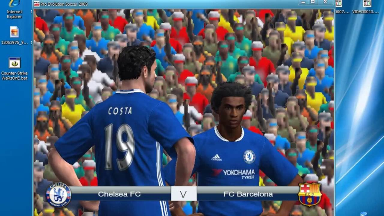 Gameplay pes 2009 patch 16/17 youtube.