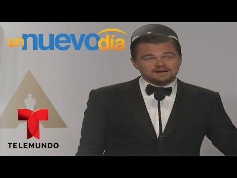 Leonardo DiCaprio come en un lugar que no esperábamos