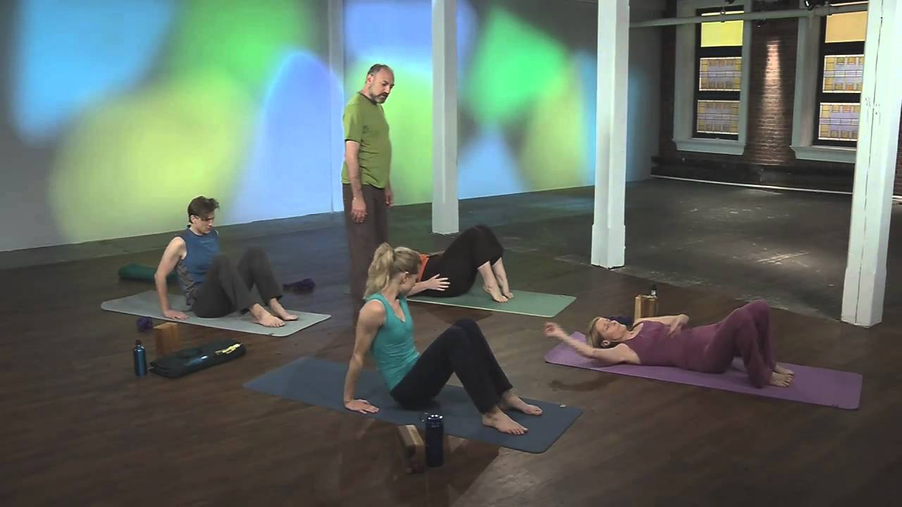 Leslie Kaminoff\'s breath-centered yoga floor sequence - YouTube