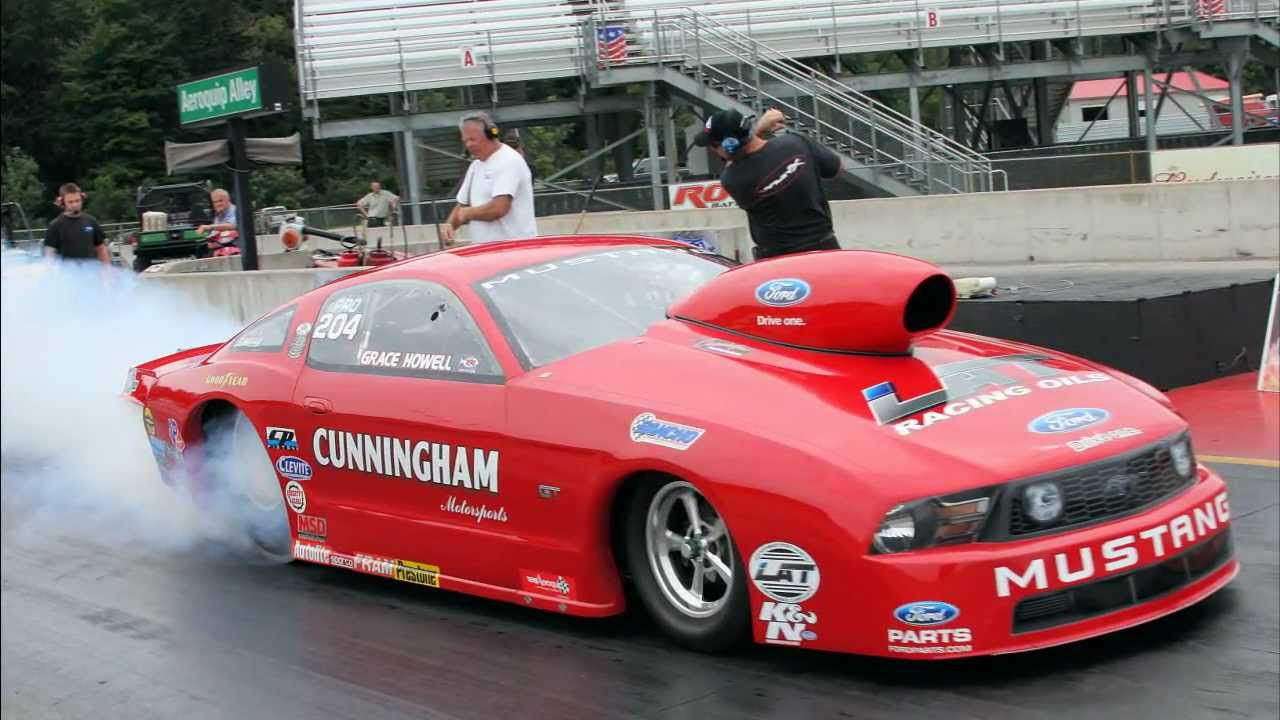 Grace Howell Pro Stock Mustang Pre Indy Testing Youtube