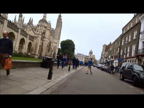 Bike ride through Cambridge City Centre(with commentary by a local)